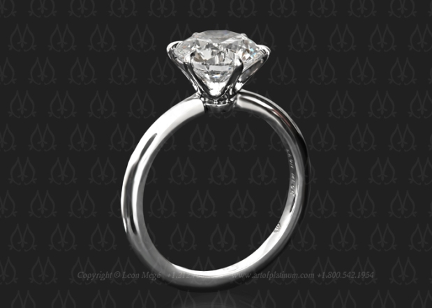 Tulip solitaire engagement ring